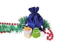 Christmas gifts and ornaments Royalty Free Stock Images