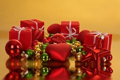 Christmas gifts and ornaments Stock Image
