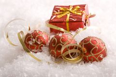 Christmas gifts and ornaments Royalty Free Stock Image
