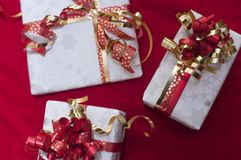 Christmas gifts in Swiss. Christmas gifts for our family Stock Photography