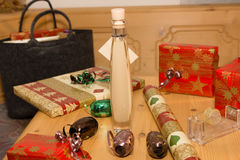 Christmas gifts. Packaging of some Christmas gifts royalty free stock image