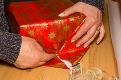 Christmas gifts. Packaging of some Christmas gifts royalty free stock photo