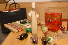 Christmas gifts. Packaging of some Christmas gifts royalty free stock images