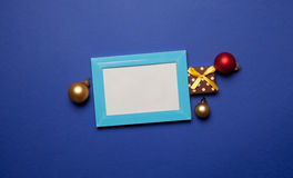 Christmas gifts and photo frame Royalty Free Stock Images