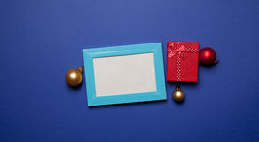 Christmas gifts and photo frame Royalty Free Stock Photo