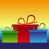 Christmas gifts presents color background  Royalty Free Stock Photos
