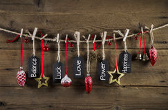 Christmas without gifts - presents from the heart with love. Royalty Free Stock Images