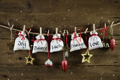 Christmas without gifts - presents from the heart with love. Royalty Free Stock Image