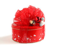 Christmas gifts with red bow Royalty Free Stock Image