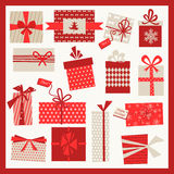 Christmas Gifts Set  Background Royalty Free Stock Photo