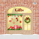 Christmas Gifts shop presents store . Royalty Free Stock Photo