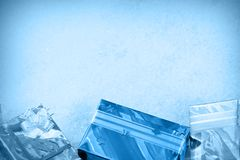 Christmas gifts on a snow Royalty Free Stock Photos