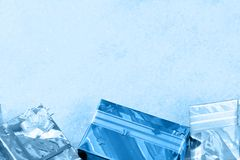Christmas gifts on a snow Royalty Free Stock Image