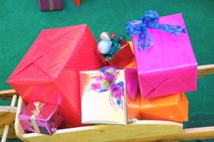 Christmas Gifts. Some Christmas Gifts Presents with Typical Paper royalty free stock images