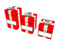 Christmas gifts with space for names or content. Christmas gift boxes with space for comment Stock Images