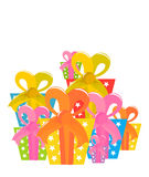 Christmas gifts stack Royalty Free Stock Images