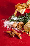 Christmas gifts, still life. Stock Images