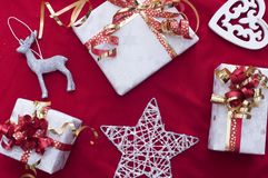 Christmas gifts in Swiss. Christmas gifts for our family Stock Images