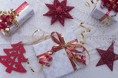 Christmas gifts in Swiss. Christmas gifts for our family Stock Image