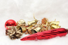 Christmas gifts and symbols Royalty Free Stock Images