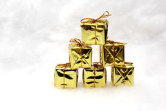 Christmas gifts and symbols Stock Image