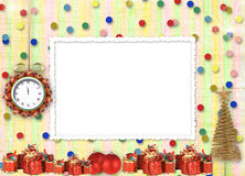 Christmas gifts to the clock Royalty Free Stock Images