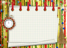 Christmas gifts to the clock Stock Images