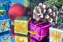 Christmas gifts toys Stock Photo