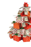 Christmas gifts tree Royalty Free Stock Photos