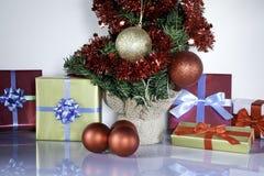 Christmas gifts and tree II stock photos