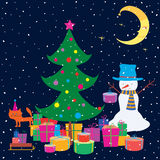 Christmas gifts under a Christmas tree Royalty Free Stock Photos