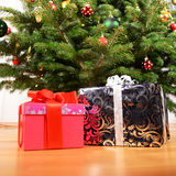 Christmas gifts. Under the tree Royalty Free Stock Photo