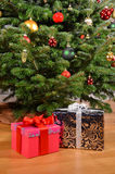 Christmas gifts. Under the tree Royalty Free Stock Images