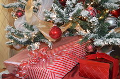 Christmas gifts under a tree Royalty Free Stock Photography