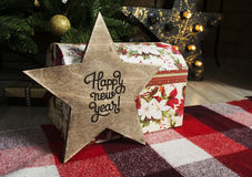 Christmas gifts under the tree Royalty Free Stock Image