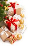 Christmas gifts under the tree Stock Images