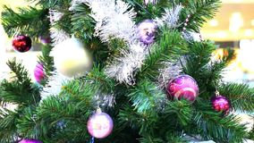 Christmas gifts under tree. Shift motion with stock footage