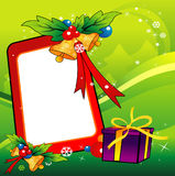 Christmas gifts vector. Composition over a green background vector illustration