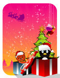 Christmas gifts vector. Illustration over a white background stock illustration