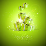 Christmas gifts - vector background Stock Photos