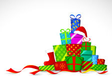 Christmas gifts. Vector illustration Royalty Free Stock Photo