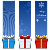 Christmas Gifts Vertical Banners Set Royalty Free Stock Photos