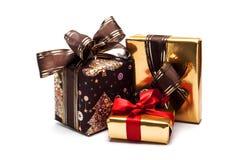 Christmas gifts,  on white.  Stock Photos
