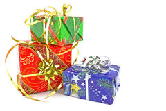 Christmas gifts. On white background Stock Photo