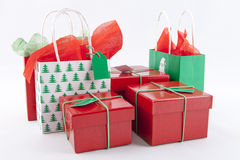 Christmas Gifts. On a white Background Stock Photos