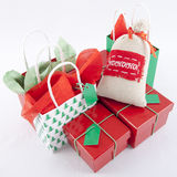 Christmas Gifts. On a white Background Stock Photography