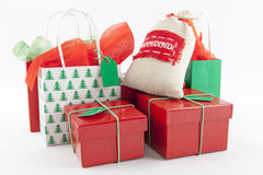Christmas Gifts. On a white Background Royalty Free Stock Image