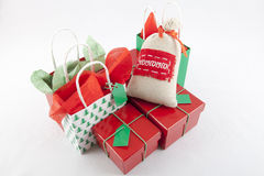 Christmas Gifts. On a white Background Royalty Free Stock Images