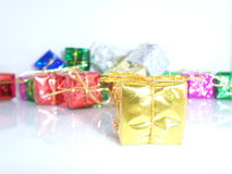 Christmas Gifts with white Background Stock Photo
