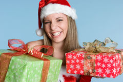 Christmas Gifts Woman Stock Images